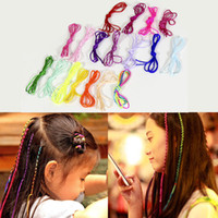 Wholesale hair styles for braids online - 18pcs Embroidery Floss Hair Strings for Box Braids Wire Wraps Hair Styling Accessories Magic Hair Braider Rope Drop Ship