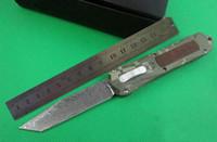 ingrosso damasco doppia lama-Coltello automatico a163 A163 lama di damasco 4 modelli a doppia azione Caccia Pocket Knife Regalo di Natale per gli uomini 1pcs