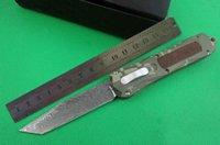 hoja doble de damasco al por mayor-Cuchillo automático a163 A163 damascus blade 4 modelos de doble acción Caza Pocket Knife regalo de Navidad para hombres 1 unids