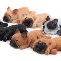 mini nevera pequeña al por mayor-Cute Small French Bulldogs Imanes Serie Sleeping Chai Dog DIY Doll Pegatinas Magnéticas Dibujos Animados Mini Juguetes Doll Para Nevera Decoración Hobbies