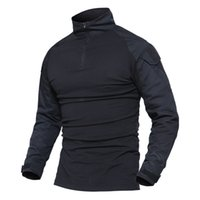 Wholesale color paintball resale online - Men Summer Army Combat Tactical T Shirt Military Camouflage Long Sleeve T Shirts Men Clothes Airsoft Paintball No Pads