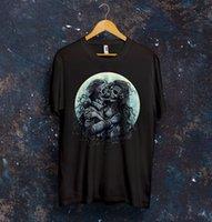 ingrosso crani d'amore-Tee Lovers da donna Kiss T Shirt Top Dead Love Death Skull Sad Bones Regalo Presen Design 2017 Estate New Sexy T-shirt Donna Top Tee