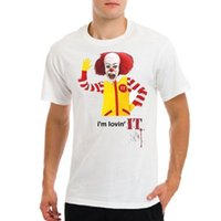 kings logo red Australia - IT Pennywise funny Stephen King McDonald logo t-shirt Comfortable t shirt Casual Short Sleeve Print 100% Cotton Short Sleeve