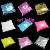 renk parıltı ipuçları toptan satış-Yeni 100 gram Toplu Paketleri Ekstra Ultra Ince Glitter Toz Toz Çivi Sanat İpuçları Vücut El Sanatları Dekorasyon Renk Seçimi 100g