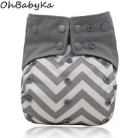 Wholesale size diaper resale online - Ohbabyka One Size All in one AIO Washable Reusable Pocket Cloth Diaper Nappy Built in Microfiber Insert Adjustable Baby Diapers