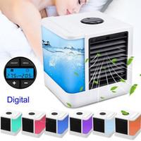 dispositivo de ventilador al por mayor-USB Portable Cooler Fan Ventilador de espacio personal Ventilador de escritorio portátil Mini dispositivo de aire acondicionado Cool Calor de viento