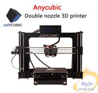impresiones de acrílico de china al por mayor-Anycubic impresoras 3d Interfaz chino / inglés Interfaz de aprendizaje de bricolaje referencia prusa i3 doble boquilla Impresión en color doble
