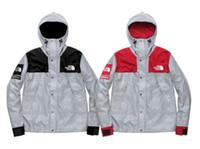 casaco dos homens da tendência da forma venda por atacado-Roupas de marca dos homens 3 M jaqueta luminosa moda casual sports outdoor mountaineering casaco tendência homens e mulheres roupas