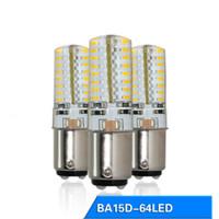 ingrosso ba15d ha condotto la lampadina-3W ba15d ha condotto la lampadina dimmable 64 smd 3014 SMD LED Light Corn Bulb 120V 220V per macchina da cucire