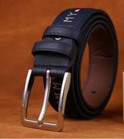 bracelet taille achat en gros de-Belt One Ceintures Noir Marron Noir Bleu Taille 110cm Bracelet Innovation Sangle