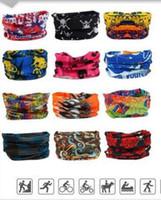 Wholesale yoga scarfs - Fashion Bohemia Sports Headbands Magic Scarf Scarves bandanas Multifunctional Outdoor Cycling Yoga Jogging Riding Mask Headwear Turban
