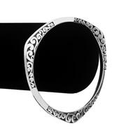Wholesale sexy hand cuffs - New Fashion Silver Black Pattern Sexy Bracelet Bangle Wristwear Hand Jewelry