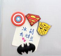 ingrosso adesivi dell'eroe-1Pcs Random Novità Super American Heroes Magnete frigorifero Magnete da frigorifero Home Decor H0099