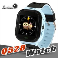 Wholesale watches for kids children resale online - Cute Sport Q528 Kids LBS Tracker Watch Kids Smart Watch with Flash Light Touchscreen SOS Call Location Finder for kid Child PK GPS Q50