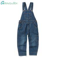 erkek kot pantolon genel toptan satış-Grandwish Boys için Denim Tulum Bahar Dungarees Yürüyor Kızlar Çocuk Rahat Kot Pantolon Tulum Boys için 18 M-10 T, SC357