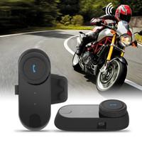 ingrosso bt casco auricolare-1pcs TCOM Kit di comunicazione moto casco auricolare bluetooth per moto sci interfono interfono BT senza fili