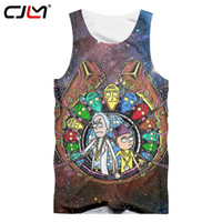 Wholesale galaxy tanks - CJLM Space Galaxy Tank Tops Summer Men Funny Print Anime Rick And Morty 3D Vest Hombre Hip Hop Sleeveless Shirts Man Singlets