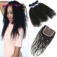 Wholesale brazilian kinky curly hair cuticle aligned kinky curly human hair extension bundles with closure latest curly hair weaves in kenya