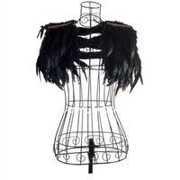 Wholesale singer dance clothing for sale - 2018 New Fashion Female Singer Dj Ds Black Big Feather Shoulder Women Rock Singers Performance Clothes Rock jazz Dance Costume