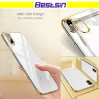 Wholesale Camera Phone Case Iphone - Electroplating mirror Ultra-Slim Soft Flexible TPU Original Feeling Camera Protection For Iphone X Phone Case DHL Free Shipping