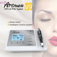 Wholesale mts therapy - New ultra quiet design Mastor Permanent Makeup Machine 4 in 1 Fuction Artmex V9 Use for PMU and MTS Therapy