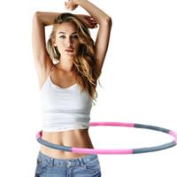 círculo do tubo venda por atacado-Espuma removível de algodão Hula Hoops equipamentos de tubo de perda de peso prática Practlcal emagrecimento círculo três cores 16 5lj Ww