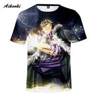 camisas de anime cauda de fadas venda por atacado-Aikooki homens / mulheres Anime Fairy Tail 3D T-shirt Natsu // Erza / cinza / Wendy Marvell 3D impressão Casual Unisex cobre camisas Fairy Tail