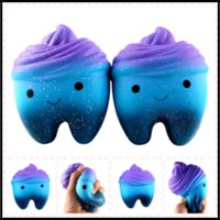 Wholesale Novelty Items For Kids - 11.8*6.7*9.3cm Teeth PU Jumbo Slow Rising Squishy Tooth Phone Charms Pendant Kids Toys Christmas Gifts Novelty Items Toys for Adults