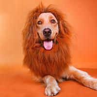 perucas para cães venda por atacado-Animal de Estimação Traje de Cabelo Ornamentos Cão Gato Leão Juba Perucas Durável Manter Quente Cabeça Chapéu Para Decoração de Halloween 16yy4 B