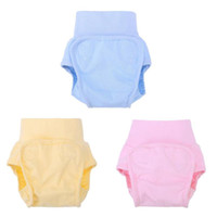 yıkanabilir pamuklu eğitim pantolonları toptan satış-1 Adet Sevimli Bebek Bezi Kullanımlık Bebek Bezleri Bezi Bezi Yıkanabilir Bebekler Çocuk Bebek Pamuk Eğitim Pantolon Külot ...