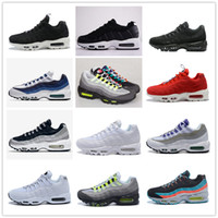 Wholesale neon casual shoes - Mens New Air Ultra 20th Anniversary 95 OG Neon Grey Retro Running Shoes Women Casual Jogging Shoe Sport Trainers Sneakers with box