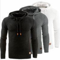 ingrosso giacche europee per gli uomini-2018 uomini giacca di felpa autunno e l'inverno nuovi europei e americani manica jacquard maglione lungo Hoodie Warm Hoodie