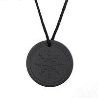Wholesale scalar energy pendant online - Fashion Males Accessories Black Quantum Scalar Energy Pendant ions Energy Power Trendy Men Necklace Jewelry As Gift
