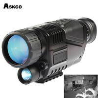 gece görüşü infrared monoküler toptan satış-Ücretsiz Shipp dijital monoküler kızılötesi gece görüş teleskop 5X40 gece görüş kapsam Av Fotoğrafları için TFT LCD ile Video Alır