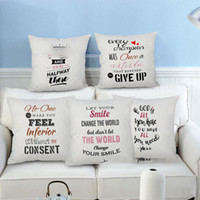 Wholesale pillow case art for sale - Group buy Christmas Pillow Case Cushion Covers Canvas Letter Pattern Pillowcase Art Cushion Cover Sofa Car Decor Gift Without core HH7