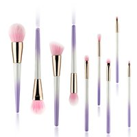 Wholesale blush pearls makeup for sale - Group buy 9pcs Pearl Gradient Ramp Makeup Brushes Set Foundation Make Up Brushes Eyeshadow Eyebrow Blush Cosmetic Brushes kit Colors