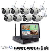 8ch sistema de vigilancia en casa al por mayor-1280 * 720P HD Red inalámbrica al aire libre / Cámara de seguridad IP 8CH 720P HD WIFI NVR Sistemas de vigilancia CCTV inalámbricos Seguridad para el hogar