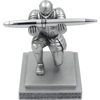 Wholesale fancy metal - ThinkGeek Executive Knight Pen Holder - Fancy Black-Inked Pen with Refillable Ink Included - A ThinkGeek Creation and Exclusive