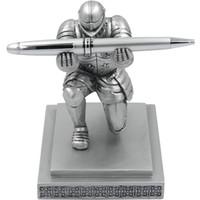 schwarze führerschein großhandel-ThinkGeek Executive Knight Stifthalter - Ausgefallener Stift mit schwarzer Tinte und nachfüllbarer Tinte - Eine ThinkGeek-Kreation und exklusiv