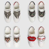 sapatos de borboleta homens venda por atacado-Homens Mulheres Sapatilhas Designer de Sapatos Clássicos Sapatos Casuais Flats De Luxo De Couro Borboleta Gatos Sapatilhas Sapatos vestidos de fiesta