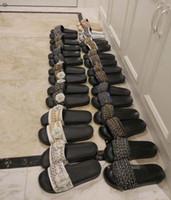 Wholesale Black Gold Gladiators - actual shoes! big size 41 42 genuine leather chain slide flat sandals luxury women designer outdoor beach fashion causal rubber sandals