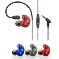 Wholesale Mobile Fone - New QKZ W6 Earphone Headset With Mic Microphone For Mobile Phones MP3 Stereo Bass Earbuds With 3.5mm Jack fone de ouvido Sport