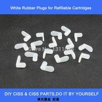 hochwertige tintenpatronen großhandel-INK WAY 80 PCS Hochwertiger weißer Verschlussstopfen für nachfüllbare Tintenpatronen, CISS-Zubehör und -Teile