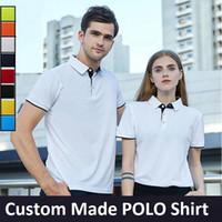 ingrosso più la maglietta verde della maglietta-Magliette polo uomo su misura Top S-3XL Plus Size Nero Bianco Rosso Arancione Giallo Navy Cielo Blu Verde 8 Colori Spedizione gratuita Drop shipping