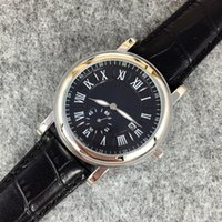 Wholesale watches retail men - 2018 Whosale price Fashion man watch black leather Retail watches High-grade watch Male brand Wristwatches top design clock Swiss Nice table