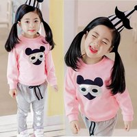 autumn korean fashion kids clothes Canada - Fashion 2018 Kids Girls Clothing Autumn New Korean Children's Garment Sweater + Pants Girl Cartoon Children Children's Garment Twinset