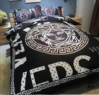 3d bedding set achat en gros de-Vente en gros-Accueil textiles couette taie d'oreiller ensembles chaud de luxe Camellia Marque originale classique coton simple Set pour 4/5/6 / 6.6 Pieds lit