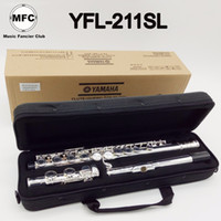 Wholesale flute 16 keys for sale - Brand New MFC Japan Flute YFL SL Standard Silver Plated Student Flute Closed Hole Model E Key Holes