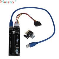 pci e express toptan satış-Ecosin2 genişletici Kablo PCI-E Express Powered Yükseltici Kart W / USB 3.0 genişletici Kablo 1x için 16x Monero Drop Shipping 17mar22