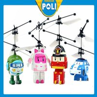 Wholesale Infrared Flying Toy - Infrared sensors RC helicopters RC Infrared Induction flying toys induction vehicle with LED lights suspending flying toys kids toys